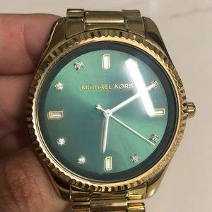 Michael Kors Emerald&Gold 'Blake' watch